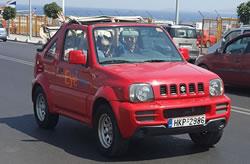 Huur een Suzuki Jimny cabrio op Kreta.